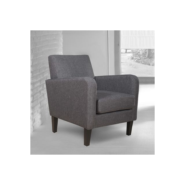 fauteuil en tissu gris anthracite jimmy sebpeche31. Black Bedroom Furniture Sets. Home Design Ideas