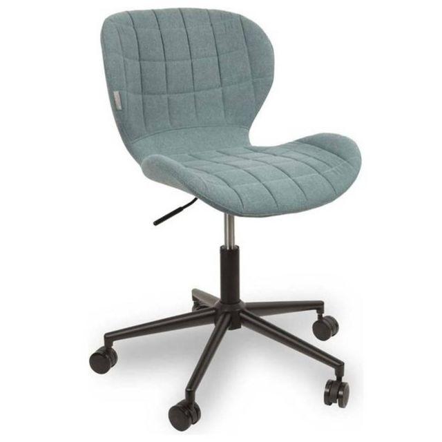 inside 75 zuiver chaise de bureau omg bleu avec pi tement noir pas cher achat vente. Black Bedroom Furniture Sets. Home Design Ideas