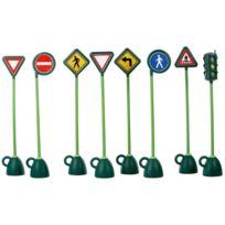 Italtrike - panneaux routier + 1 feu tricolore - lot de 9