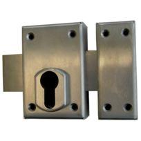 Devismes - Verrou De Surete A Cylindre De Serrure Profil Inox