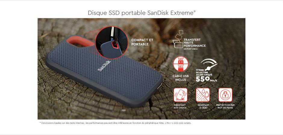 SanDisk Extreme Portable SSD 1 To