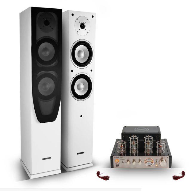 Madison 2 enceintes colonnes Hifi / Home-Cinéma 2x120 W + Amplificateur dtéréo à tubes 2X25 W Rms