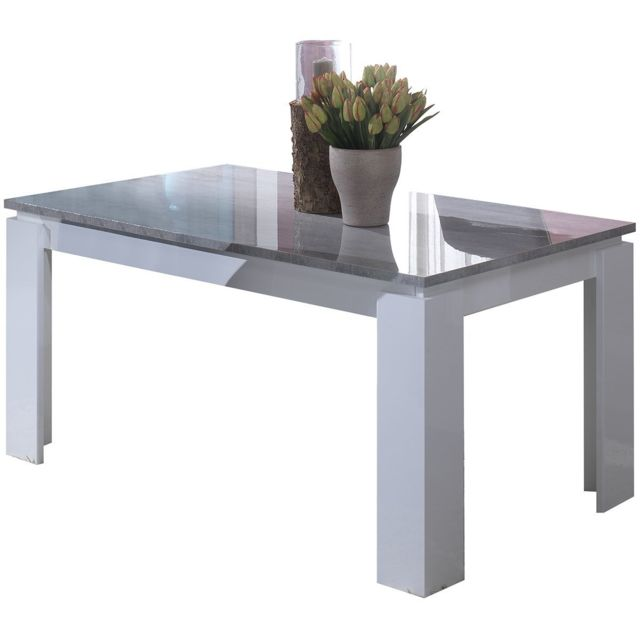 Altobuy Nevada Gris - Table Rectangulaire Extensible