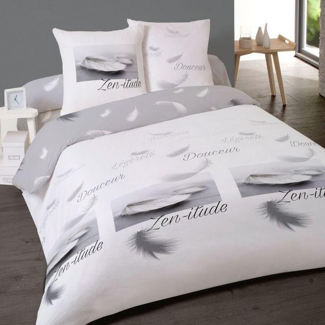 linge usine housse de couette plume elite 200x200 cm pas cher achat vente housses de. Black Bedroom Furniture Sets. Home Design Ideas