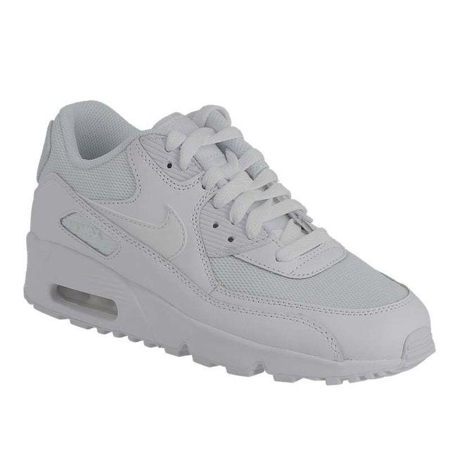 sale retailer da88b 4e99a Nike - Air Max 90 mesh Gs 833418 100 white white - pas cher Achat   Vente Baskets  enfant - RueDuCommerce