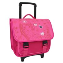 Alistair - Cartable À Roulettes Scolaire Rose Girly