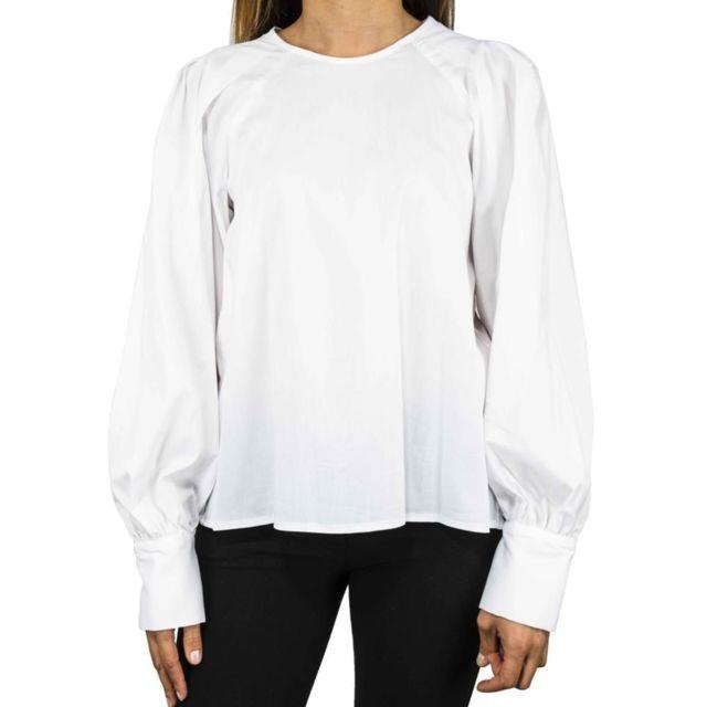 Dixie Femme Ccgeebswhite Blanc Coton Blouse