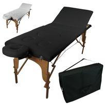 Linxor - Table de massage pliante pour femme enceinte 3 zones en bois avec panneau Reiki + accessoires et housse de transport
