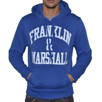Franklin & Marshall - Franklin Marshall - Sweat à Capuche - Homme - Fm Sweat - Bleu Blanc