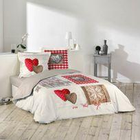 Douceur D'INTERIEUR - Housse de couette Love Cottage 220x240cm 100% coton