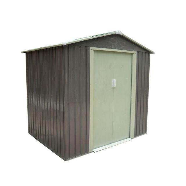 Conception innovante 60239 85d94 CARREFOUR - Abri métal - 3.64 m² - Gris - pas cher Achat ...