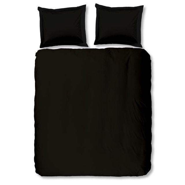 Emob Housse de couette Uni Black 200x220cm
