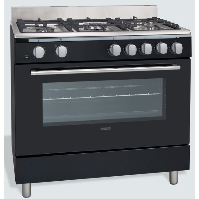 Sogelux - Cuisinière à gaz piano de cuisson Cg9060N Noire