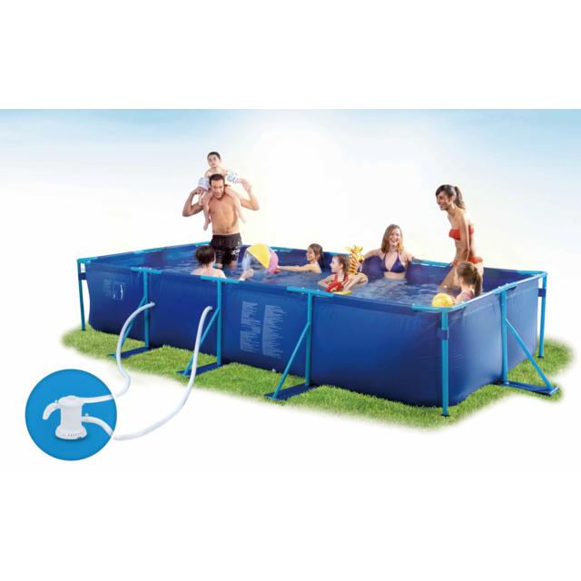 carrefour piscine tubulaire puka puka l 4 57 x l 2 13 x h 0 84 m pas cher achat vente. Black Bedroom Furniture Sets. Home Design Ideas