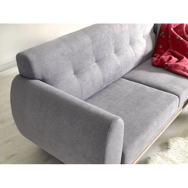Sofa Story - Canapé d'angle convertible Bimbo Gris anthracite / blanc 88cm x 91cm x 188cm - N/A