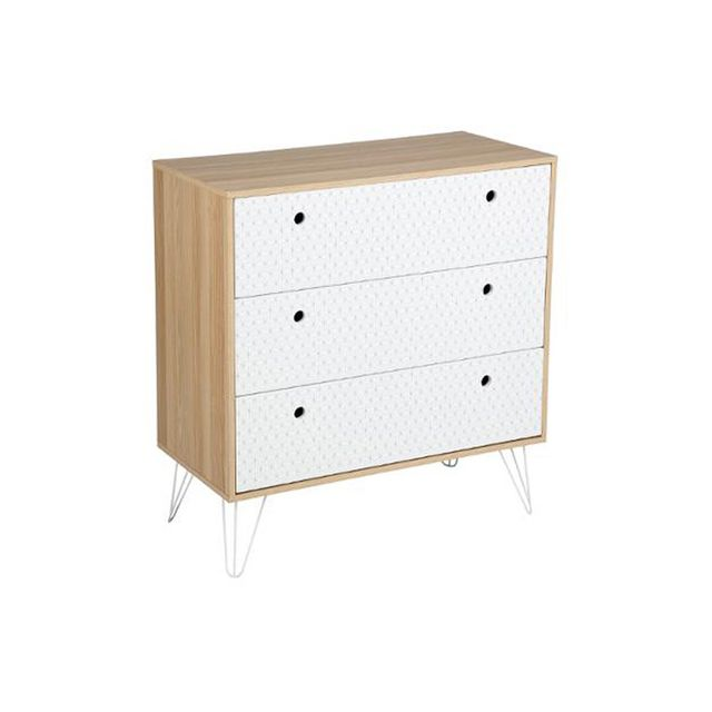 Atmosphera Commode 3 Tiroirs Effy Multicolore Pas Cher Achat