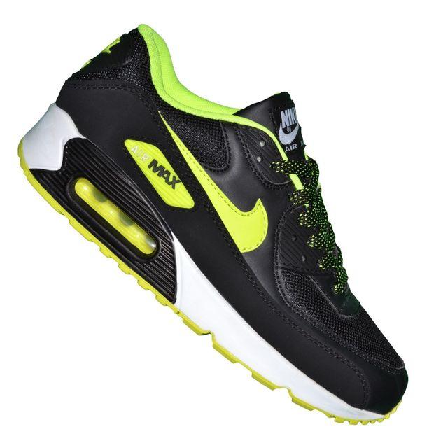 7ad13f81251 Nike - Basket - Homme - Air Max 90 Essential 196 - Noir Neon Jaune Blanc -  pas cher Achat   Vente Baskets homme - RueDuCommerce