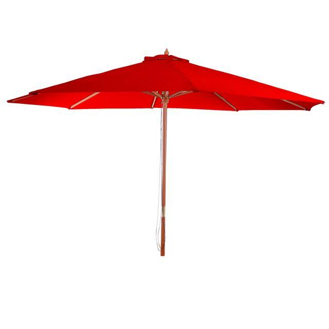 mendler parasol en bois parasol de jardin florida parasol de march 3 5m bordeaux pas. Black Bedroom Furniture Sets. Home Design Ideas