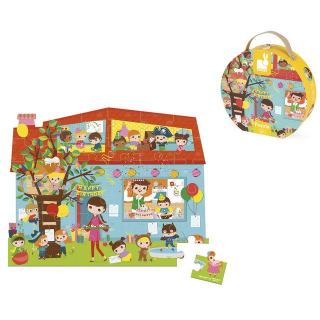 JANOD Puzzle 36 pièces : Goûter d'anniversaire