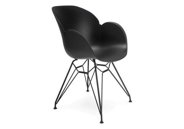 declikdeco chaise design en plastique noir paiute pas cher achat vente chaises rueducommerce. Black Bedroom Furniture Sets. Home Design Ideas