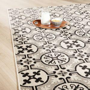 Mathilde et pauline tapis 100 polypropyl ne effet sisal for Tapis carreaux de ciment pas cher