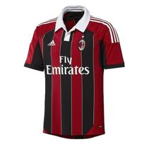 Adidas - Performance-Maillot Milan Ac Jr Home Noir-Rouge W37478
