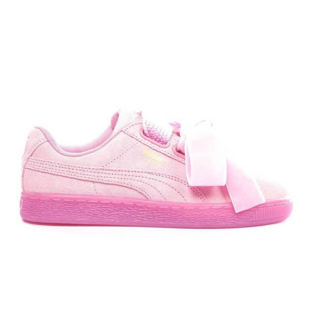 Puma Basket Wns Suede Heart Reset Rose pas cher Achat