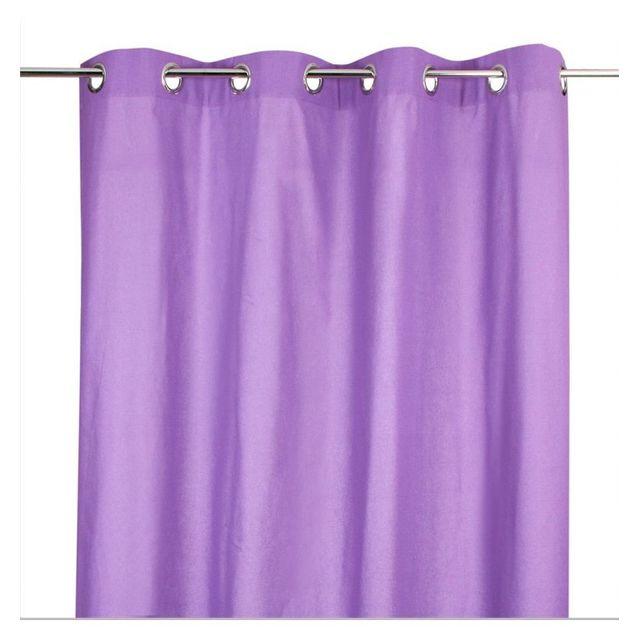 Jja - Rideau violet avec 8 œillets 140 x 260 cm - pas cher Achat ...