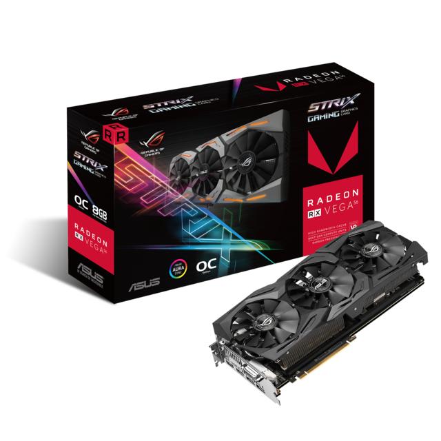 Radeon RX Vega 56 ROG STRIX GAMING OC - 8 Go
