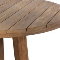 table ronde en teck - achat table ronde en teck pas cher - rue du