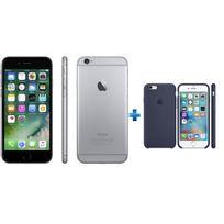 APPLE - iPhone 6 - 32 Go - MQ3D2ZD/A - Gris sidéral + coque bleu nuit
