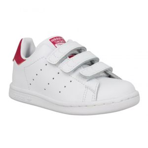 adidas stan smith vl cuir enfant 31 blanc rose pas cher achat vente baskets enfant. Black Bedroom Furniture Sets. Home Design Ideas