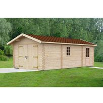 - Garage en pin massif 4x7,5m - Laurel