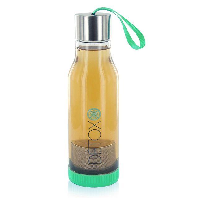Touslescadeaux Bouteille Détox Infuseur à Thé 500 ml - Vert