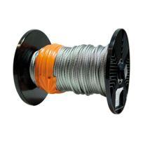 Chaubeyre - Câble âme métallique galvanisé - D: 4 mm - bobine de 76 m - 7 torons de 7 fils
