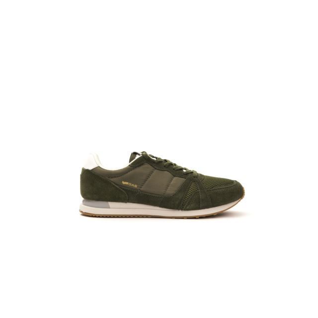 Gas Sneakers homme Gam813035 Kaki pas cher Achat Vente