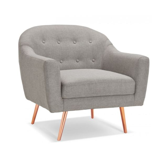 KOKOON DESIGN Canapé design BARDOT MINI LIGHT GREY 85x87x87 cm