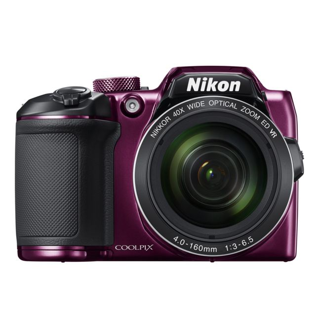 NIKON appareil photo bridge violet - b500 zoom optique NIKKOR40x -Dynamic Fine Zoom80x -moniteur ACL inclinable haute définition 7,5 cm (3 pouces) -16 millions de pixels -vidéos Full HD