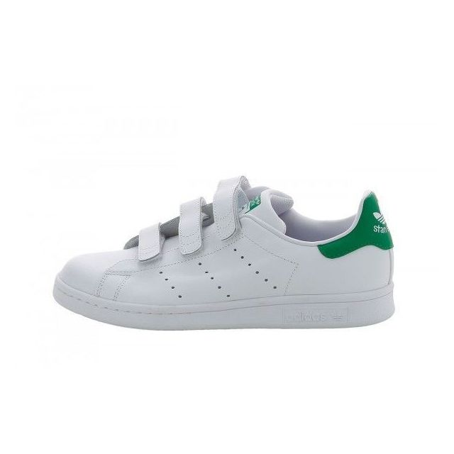 ADIDAS ORIGINALS - Stan Smith classic scratch Blanc / Vert ...