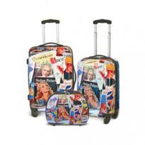Kinston - Bagage Lot de 2 Valises + Vanity - Rigide - 4 Roues - America