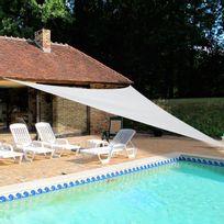 Idea Nature - Voile d'ombrage triangulaire en polyester 180g/m² 5x5x5m Jardin Plaisir