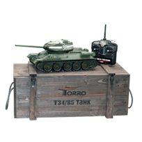 Torro - 3909 B-t34/85-RC Panzer 2.4 Ghz 1/16 Professionnel En MÉTAL Bb, Vert