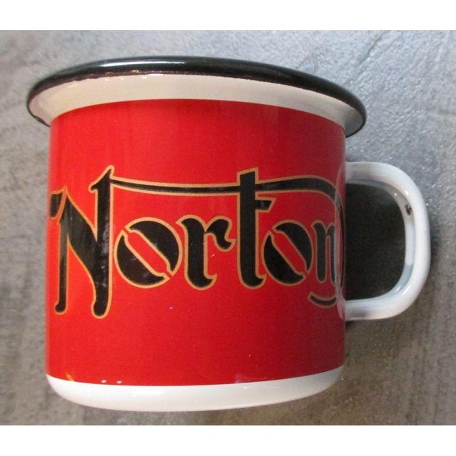 Universel Mug norton rouge email tasse à café emaillée moto retro