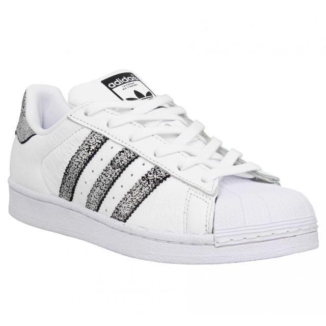acheter en ligne febd6 dc2df Adidas - Superstar cuir Femme-36-Blanc Argent - pas cher ...