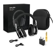 Alpexe - Casque Bluetooth Réduction Active de Bruit avec Étui de Transport Supra-auriculaires sans fil Over-Ear Bluetooth 4.0 avec Micro Hi-Fi Stéréo -noir