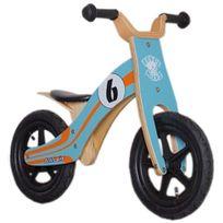 """Rebel Kidz - Vélo Enfant - Wood Air - Draisienne - 12"""" Le Mans orange/turquoise"""