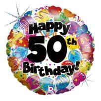 Betallic - F86358P Ballon - 18, 50TH Birthday Holographique