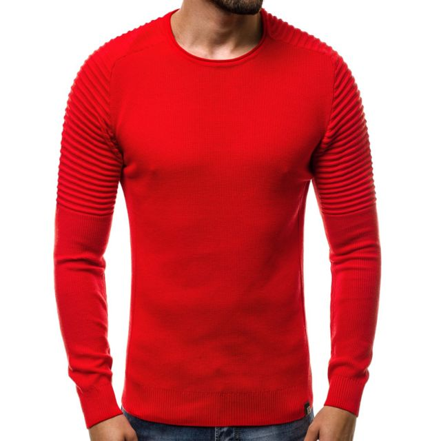 5a7b94625 Pull fashion, texturé homme Pull M137 rouge