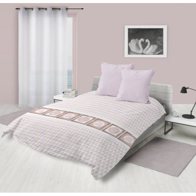 soleil d 39 ocre couette imprim e 220x240 cm dream rose pas cher achat vente couettes. Black Bedroom Furniture Sets. Home Design Ideas