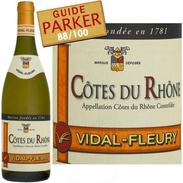 Kết quả hình ảnh cho vidal fleury cotes du rhone blanc 2015